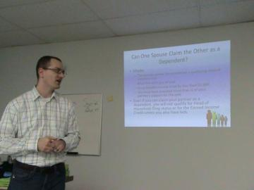 This is an action shot of me giving my same-sex marriage presentation in 2012.