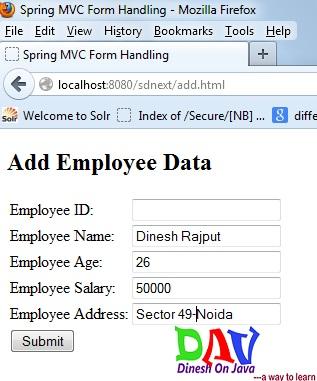 Spring MVC Hibernate Integration CRUD Example Step by Step