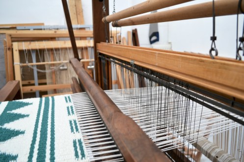The making of the Pine Forest handwoven rug