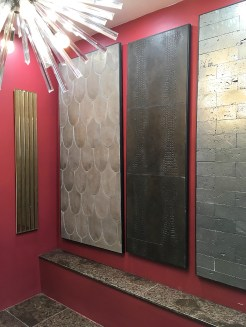 Fish Scales and Crocodile Skin tiles on display.