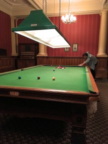 Snooker Table in the Basement