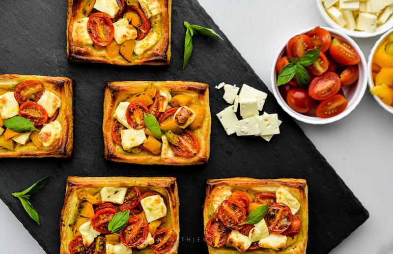 Tomato & Feta Tarts