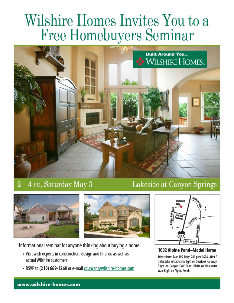 Dingus Design Wilshire Homebuyer Seminar Flyer