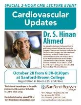 Cardiovascular Updates Flier   Sanford-Brown College