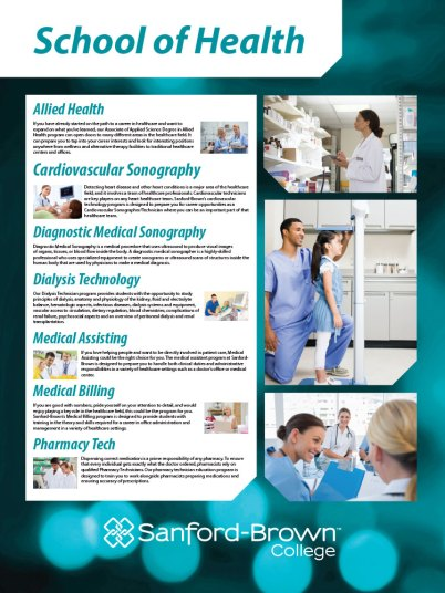 Health Programs Poster | Sanford-Brown College