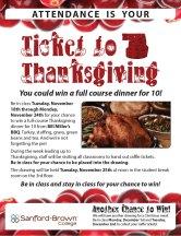 Thanksgiving Raffle Flyer   Sanford-Brown College