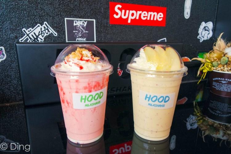 台南國華街飲料推薦 專賣美式奶昔,IG打卡必朝聖「HOOD Milkshake 美式奶昔」,與新鮮水果、冰淇淋融合,奶昔順口好喝。