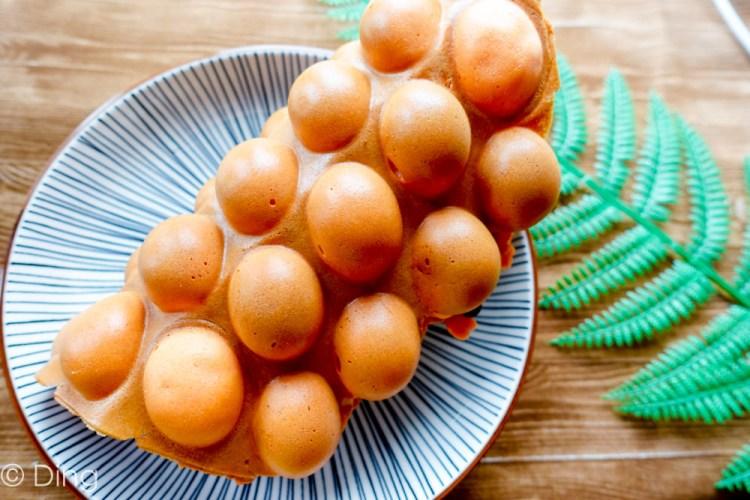 台南中西區 北門路下午茶點心雞蛋仔,「漫步佐敦港式雞蛋仔」總共有十種口味喔!買三份還可以折$20,十分佛心。