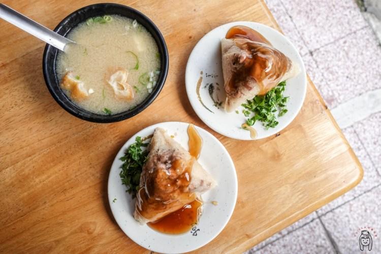 台南早餐 明和菜粽,成功路古早味菜粽,只賣味噌湯跟菜粽,時常秒殺售完,在地人最愛的早餐。