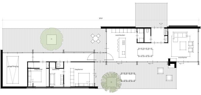 Plattegrond levensloopbestendige moderne woning for Plattegrond woning indeling