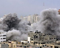 Approximately 550 Palestinians have been killed so far, at least a quarter of them civilians.