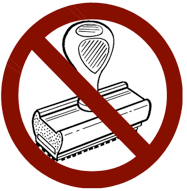 Image result for no rubber stamps