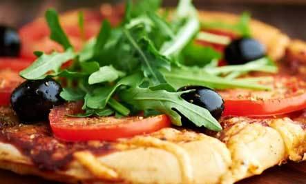 Try my Celestial Gluten Free Arugula Pizza Salad!