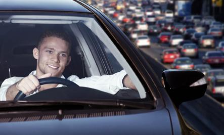 Happy Guy Driving