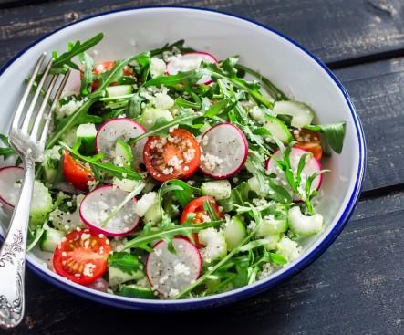 Quinoa Radish Arugula Salad