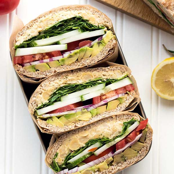 Rosemary Chickpea Salad Sandwiches