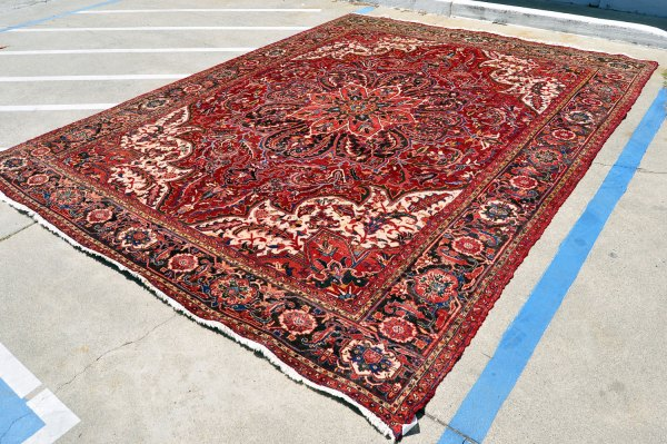 Large Persian Heriz Rug