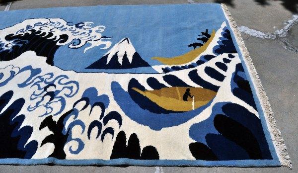 Nepal Rug -- The Wave NE0003