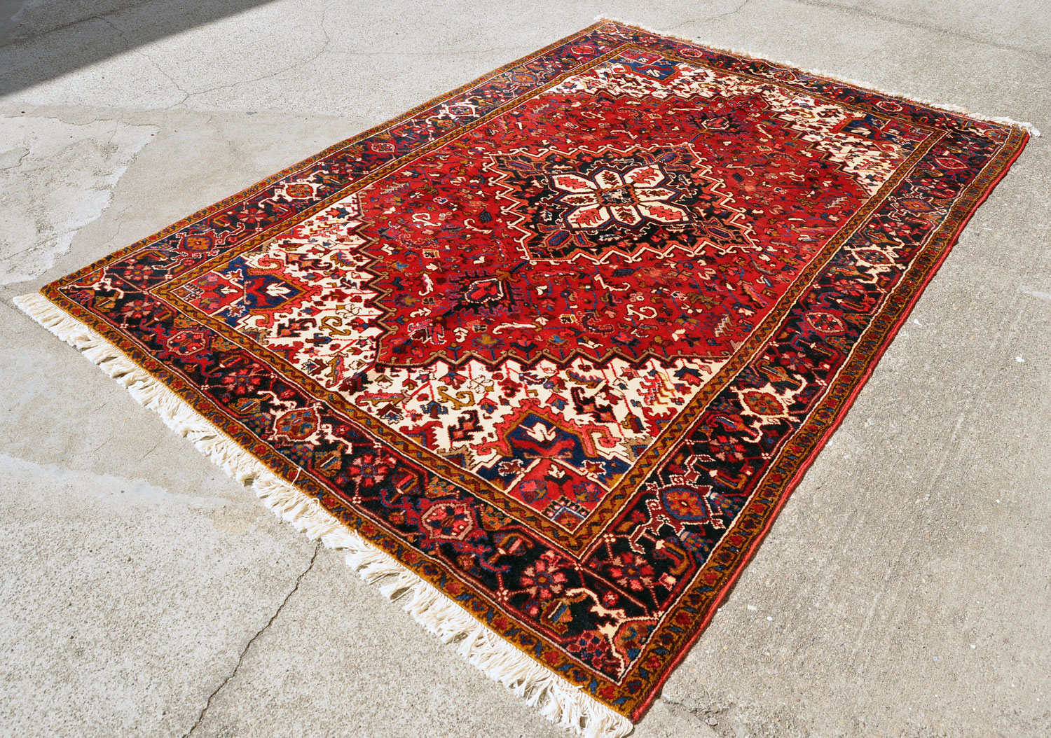 Heriz Rug -- 9 ft. 8 by 6 ft. 5