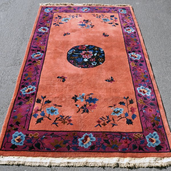 Chinese Nichols Butterfly Rug