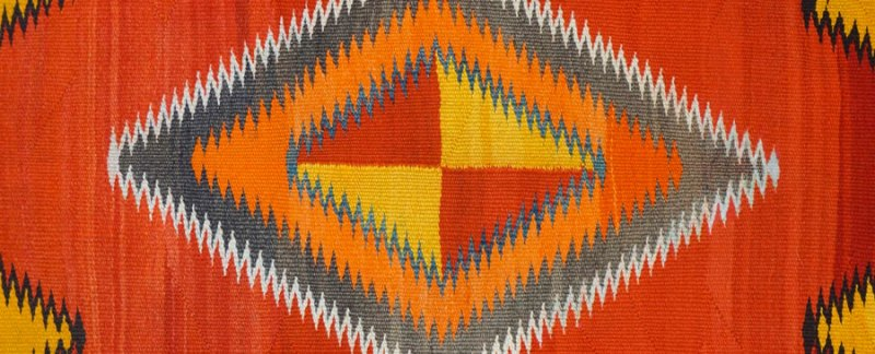Red Mesa Navajo Transitional Rug