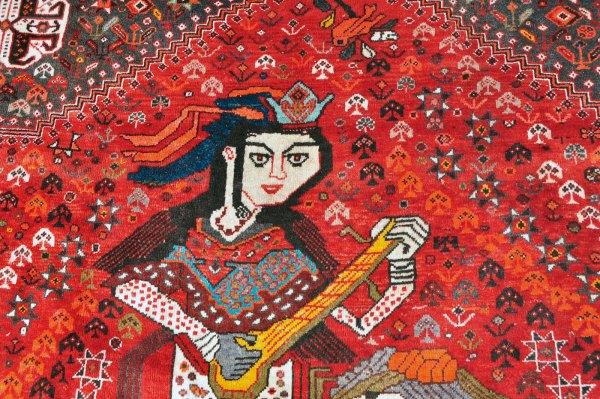 Qashqai Rug with Women Musicians