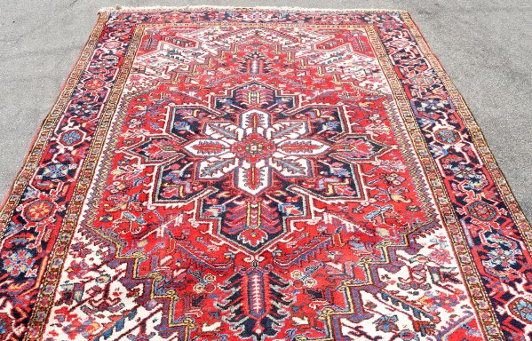 Authentic Persian Heriz Rug