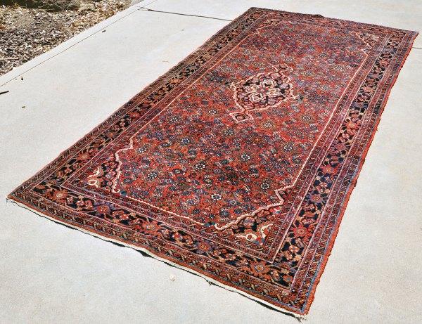 Antique Persian Hosseinabad Rug