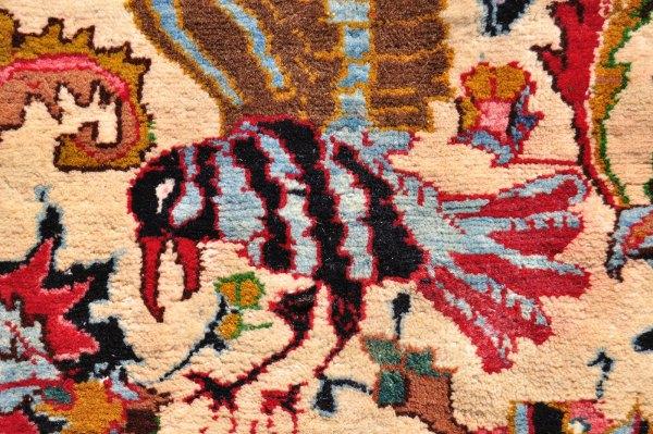 Blue hawk Persian rug