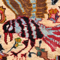 Blue hawk Persian rug