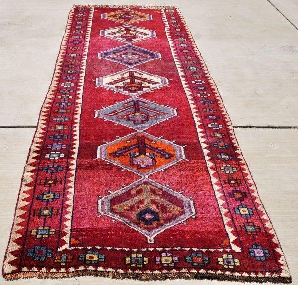 Shirazi Wool Geometric Runner Iran
