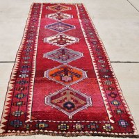 Shirazi Wool Geometric Runner Iran
