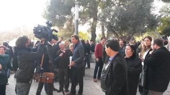 La comitiva del PP, durant la mostra de matances del passat 13 de desembre.