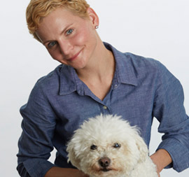 Dingo's Dogsitting owner Nancy DeFazio with Dingo