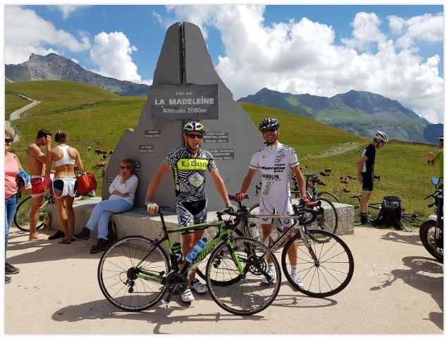 A l'arrivée de cette belle cyclo de la Madeleine, avant de redescendre à St François Longchamp