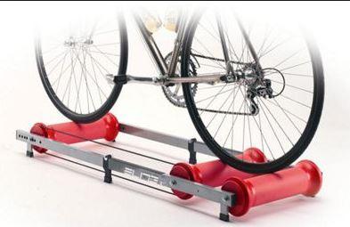 Dingue de vélo - Home trainer à l'ancienne : des rouleaux