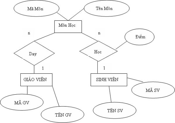 mô hình erd là gì và ví dụ minh họa