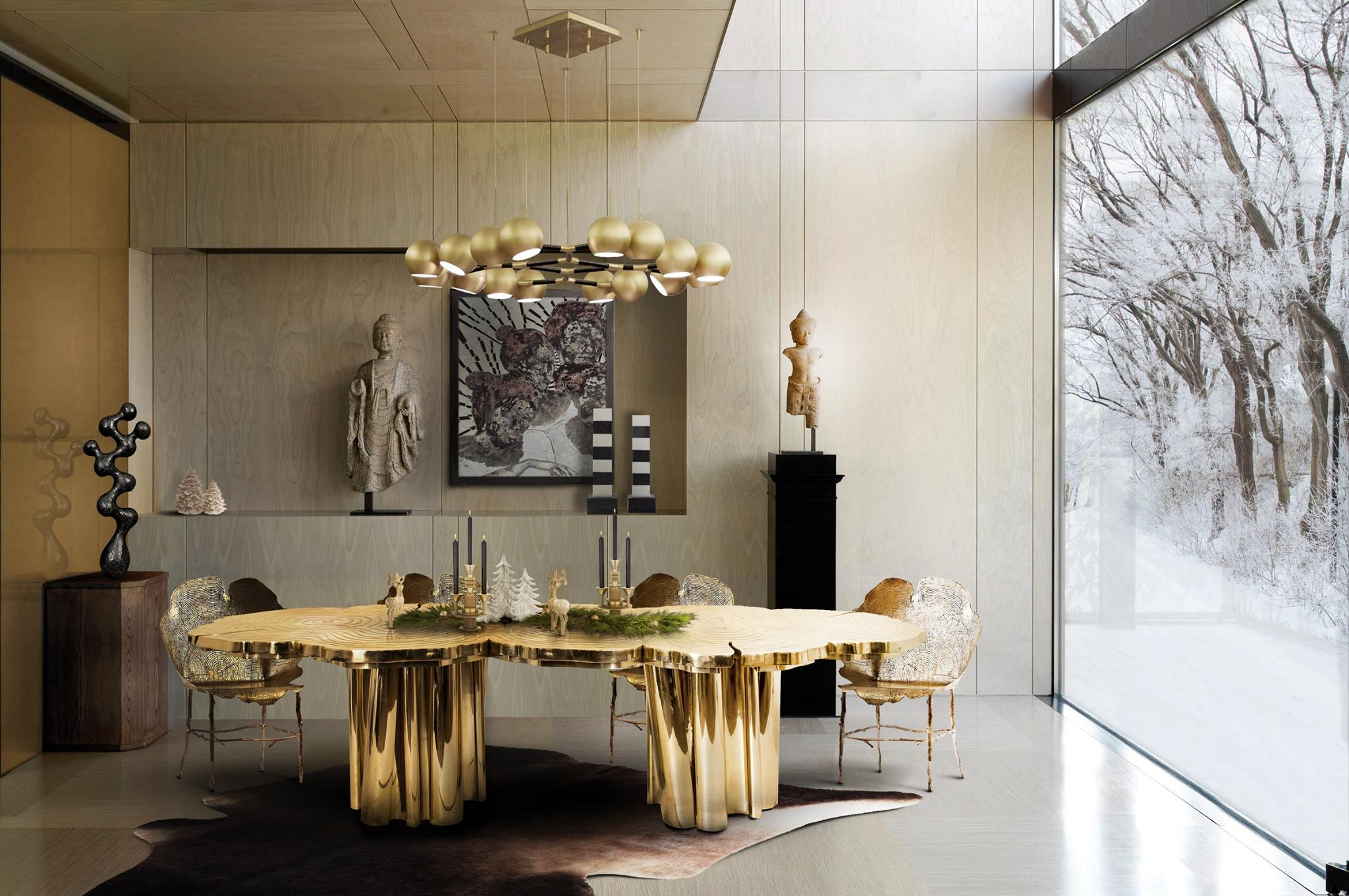 Black White And Gold Dining Rooms Novocom Top