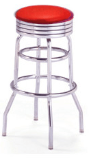 barstool red - Bar Stools