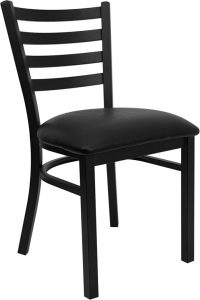 black ladder metal chair vinyl seat 45 200x300 - Chairs
