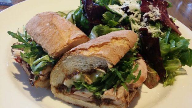 Smoked Chicken, brie & fig jam Sandwich