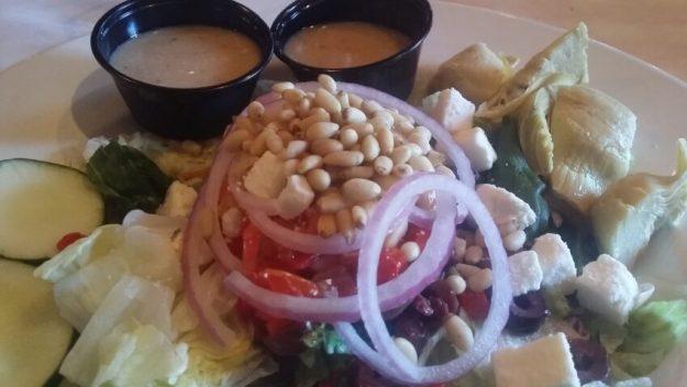 Mediterranean Salad @ Dino's Pizzeria- North Mankato, MN