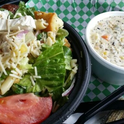 SALAD AND SOUP LUNCH AT ZUPPA CUCINA IN SHAKOPEE, MN