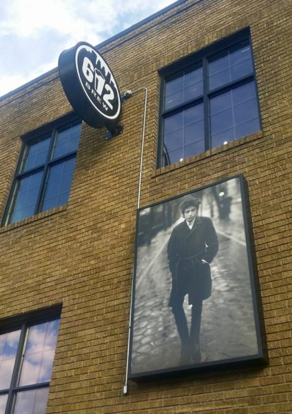 Bob Dylan on the Patio of 612 Brew