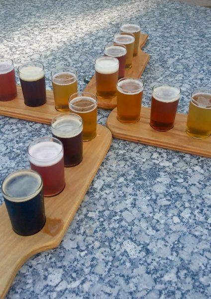 Flights of beer at 612Brew