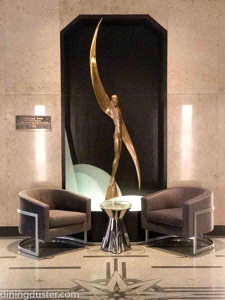 art at entrance of Rand Tower