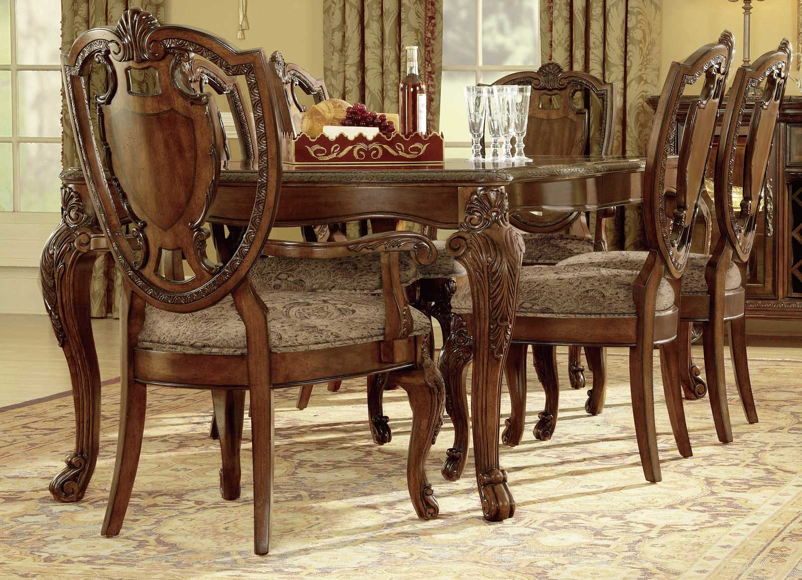 A.R.T. Old World 7-pc Leg Dining Set In Cherry By Dining