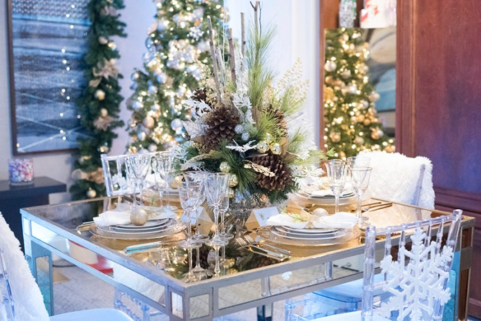 The decor at the Santa Suite at Fairmont Washington, DC