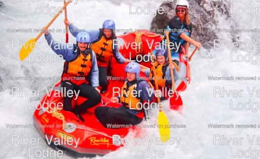 White water rafting at River Valley in the North Island of New Zealand