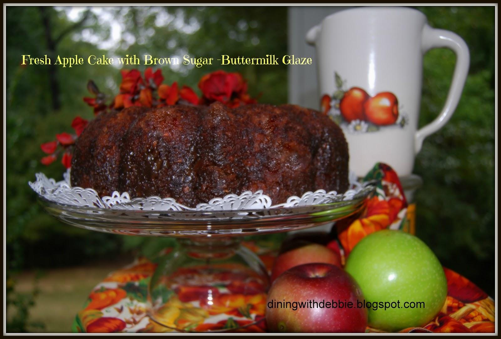 Fresh Apple Cake with Brown Sugar Buttermilk Glaze